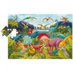 Ludattica-51373 Riesen-Bodenpuzzle - Dinosaurier