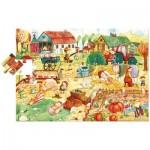 Ludattica-52479 Riesen-Bodenpuzzle - Bauernhof Freunde