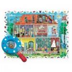 Puzzle  Ludattica-74822 XXL Teile - Baby Detective - Haus