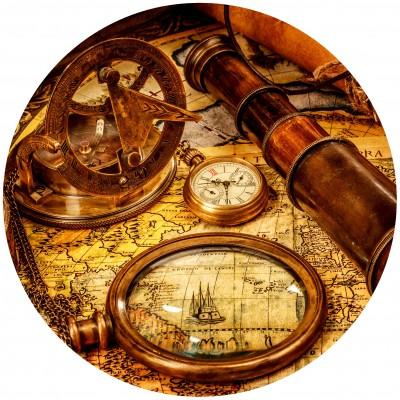 Grafika-Wood-00005 Holzpuzzle - Vintage Travel