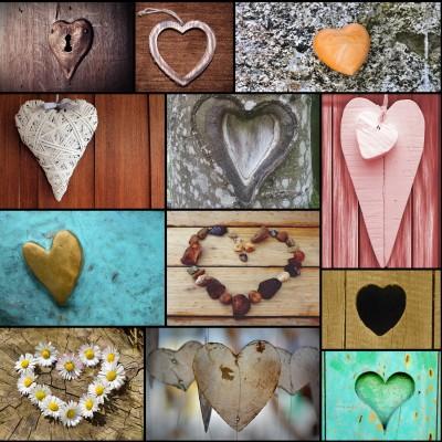 Grafika-Wood-00009 Holzpuzzle - Collage - Love