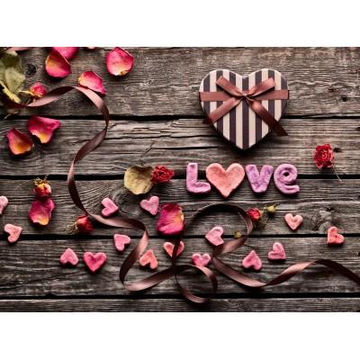 Grafika-Wood-00016 Holzpuzzle - Love