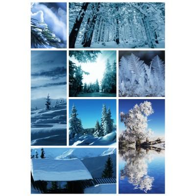 Grafika-Wood-00018 Holzpuzzle - Schnee