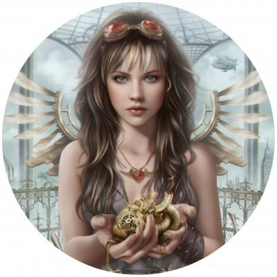 Grafika-Wood-00022 Holzpuzzle - Steam Heart
