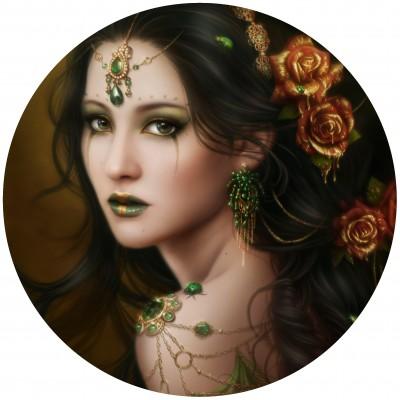 Grafika-Wood-00023 Holzpuzzle - Golden Rose