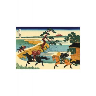 Puzzle-Michele-Wilson-A180-350 Puzzle aus handgefertigten Holzteilen - Hokusai: Felder von Sekiya