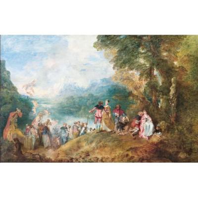 Puzzle-Michele-Wilson-A195-1000 Puzzle aus handgefertigten Holzteilen - Antoine Watteau