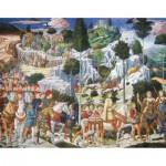 Puzzle-Michele-Wilson-A262-750 Puzzle aus handgefertigten Holzteilen - Gozzoli: Die heiligen 3 Könige