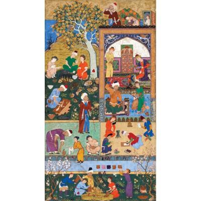 Puzzle-Michele-Wilson-A288-500 Puzzle aus handgefertigten Holzteilen - Persische Kunst: Die Schule
