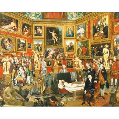Puzzle-Michele-Wilson-A298-500 Puzzle aus handgefertigten Holzteilen - Johann Zoffany: Die Tribuna der Uffizien