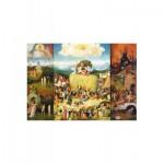 Puzzle-Michele-Wilson-A373-1500 Puzzle aus handgefertigten Holzteilen - Bosch: Der Garten der Lüste - Wagen voll Heu