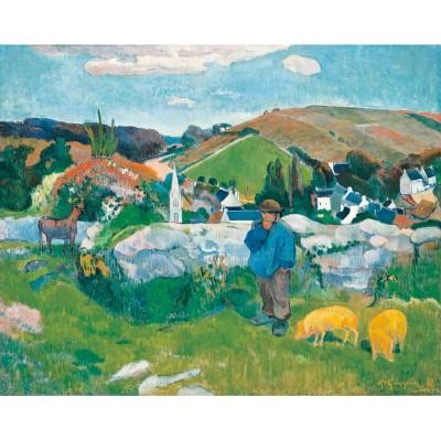 Puzzle-Michele-Wilson-A462-500 Puzzle aus handgefertigten Holzteilen - Paul Gauguin: Le Porcher
