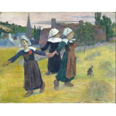Puzzle Puzzle-Michele-Wilson-A473-80 Paul Gauguin - Breton Girls Dancing, 1888
