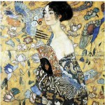 Puzzle-Michele-Wilson-A515-350 Puzzle aus handgefertigten Holzteilen - Gustav Klimt: Dame mit Fächer