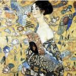 Puzzle-Michele-Wilson-A515-80 Puzzle aus handgefertigten Holzteilen - Gustav Klimt: Dame mit Fächer