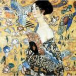 Puzzle-Michele-Wilson-A515-900 Puzzle aus handgefertigten Holzteilen - Gustav Klimt: Dame mit Fächer