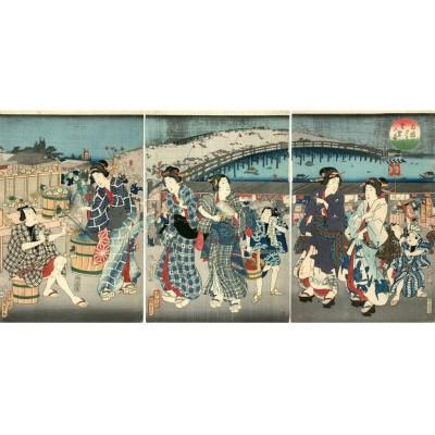 Puzzle-Michele-Wilson-A542-350 Holzpuzzle - Utagawa Kunisada