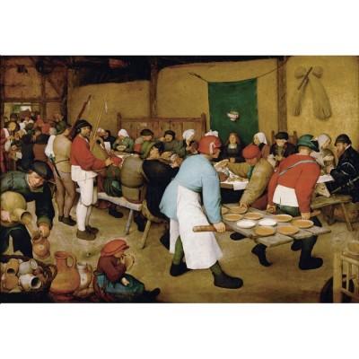 Puzzle-Michele-Wilson-A553-1000 Puzzle aus handgefertigten Holzteilen - Brueghel der Ältere: Bauernhochzeit, 1567-1568