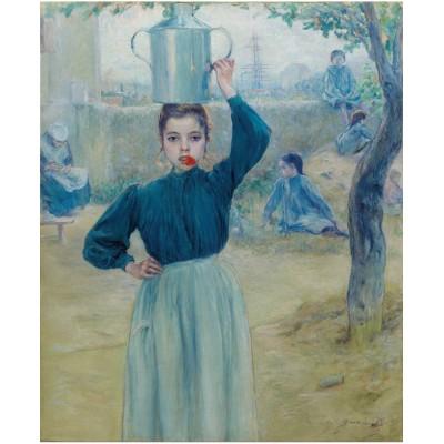 Puzzle  Puzzle-Michele-Wilson-A625-150 Adolfo Guiard - Das kleine Dorf Mädchen mit roter Nelke