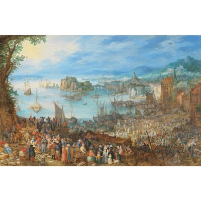 Puzzle  Puzzle-Michele-Wilson-A639-500 Brueghel - Großen Fischmarkt, 1603