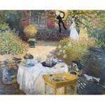 Puzzle-Michele-Wilson-A643-350 Puzzle aus handgefertigten Holzteilen - Claude Monet - Mittagessen