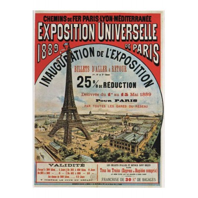 Puzzle-Michele-Wilson-A656-80 Puzzle aus handgefertigten Holzteilen - Exposition Universelle de Paris, 1889