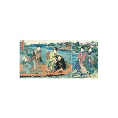 Puzzle-Michele-Wilson-A660-250 Puzzle aus handgefertigten Holzteilen - Utagawa Kunisada