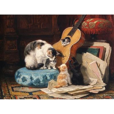 Puzzle-Michele-Wilson-A668-500 Puzzle aus handgefertigten Holzteilen - Henriette Ronner-Knip - Gitarrenstunde