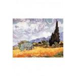Puzzle-Michele-Wilson-A723-150 Puzzle aus handgefertigten Holzteilen - Vincent Van Gogh: Kornfeld mit Zypressen