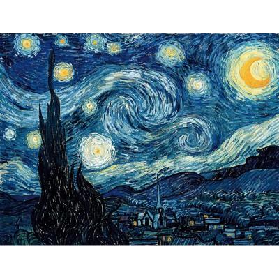 Puzzle-Michele-Wilson-A848-80 Puzzle aus handgefertigten Holzteilen - Van Gogh: Sternennacht