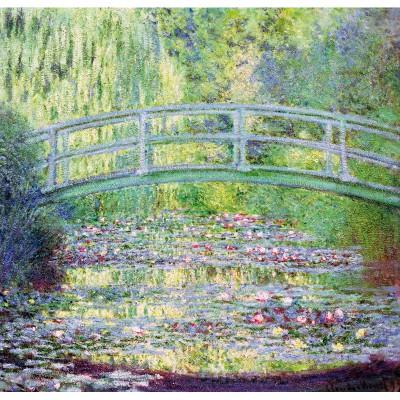 Puzzle-Michele-Wilson-A910-80 Puzzle aus handgefertigten Holzteilen - Monet: Die japanische Brücke