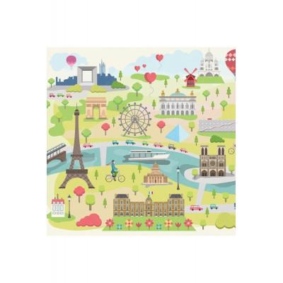 Puzzle-Michele-Wilson-Cuzzle-Z12 HolzPuzzle - Kollektion Paris: Paris illustriert
