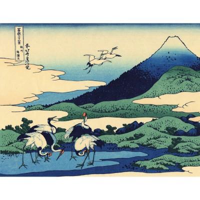Puzzle-Michele-Wilson-Cuzzle-Z22 Puzzle aus handgefertigten Holzteilen - Hokusai: Umezawa