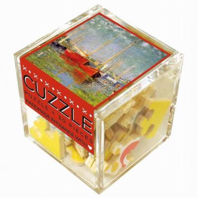 Puzzle-Michele-Wilson-Cuzzle-Z47 Holzpuzzle - Würfel - Claude Monet: Die roten Boote