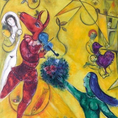 Puzzle-Michele-Wilson-Cuzzle-Z64 Puzzle aus handgefertigten Holzteilen - Marc Chagall