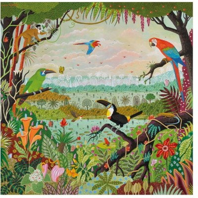 Puzzle-Michele-Wilson-Cuzzle-Z86 Puzzle en Bois - Alain Thomas: Jungle