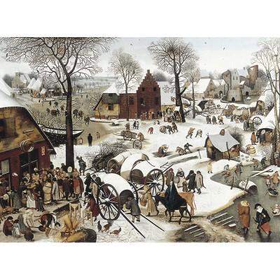 Puzzle-Michele-Wilson-H58-200 Puzzle aus handgefertigten Holzteilen - Brueghel: Volkszählung zu Bethlehem