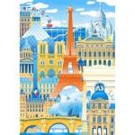 Puzzle-Michele-Wilson-K059-50 Puzzle aus handgefertigten Holzteilen - Paris