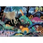 Puzzle-Michele-Wilson-K065-50 Puzzle aus handgefertigten Holzteilen - Nacht im Dschungel