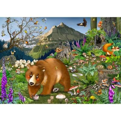 Puzzle-Michele-Wilson-K068-100 Holzpuzzle - In den Bergen