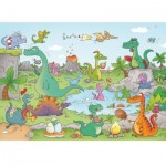 Puzzle-Michele-Wilson-K144-24 Puzzle aus handgefertigten Holzteilen - Cacouault - Dinosaurier