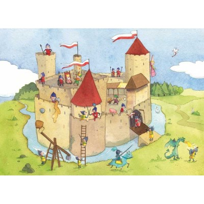 Puzzle-Michele-Wilson-K145-24 Puzzle aus handgefertigten Holzteilen - Panik im Schloss-Fort