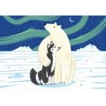Puzzle-Michele-Wilson-K160-24 Holzpuzzle - WWF - Bär und Husky
