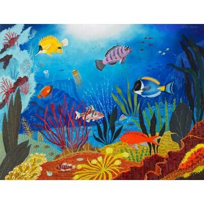 Puzzle-Michele-Wilson-K161-50 Puzzle aus handgefertigten Holzteilen - Tropischer Fisch