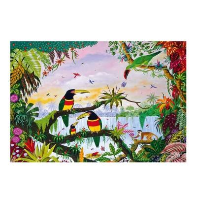 Puzzle-Michele-Wilson-K162-100 Puzzle aus handgefertigten Holzteilen - Thomas - Dschungel