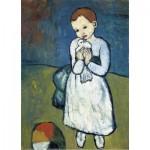 Puzzle-Michele-Wilson-K165-24 Puzzle aus handgefertigten Holzteilen - Pablo Picasso - Das Kind mit der Taube