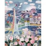 Puzzle-Michele-Wilson-K25-24 Puzzle aus handgefertigten Holzteilen - Raoul Dufy - Paris im Frühling