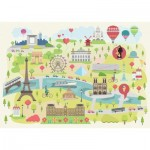 Puzzle-Michele-Wilson-K305-24 Puzzle aus handgefertigten Holzteilen - Paris illustriert