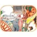 Puzzle-Michele-Wilson-K441-12 Puzzle aus handgefertigten Holzteilen - Verrückte Haustiere