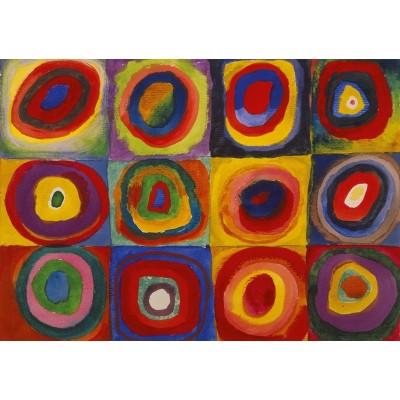 Puzzle-Michele-Wilson-K446-12 Puzzle aus handgefertigten Holzteilen - Kandinsky - Color Study